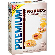 Nabisco Premium Saltine Rounds With Whole Grain Crackers