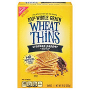 Nabisco Wheat Thins Cracked Pepper & Olive Oil Snacks