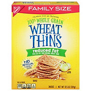 Nabisco Wheat Thins Reduced Fat Crackers Family Size!