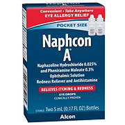 Naphcon A Pocket Size Eye Drops, 2 Pack