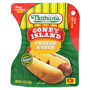 Nathan's Cheese Hot Dog Topping