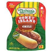Nathan's Chili Hot Dog Topping