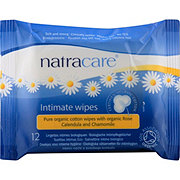 Natracare Intimate Cotton Wipes