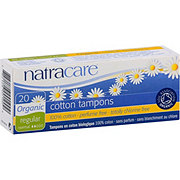 Natracare Organic All Cotton Tampons- Regular