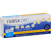 NATRACARE Organic All Cotton Tampons- Super