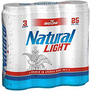 Natural Light Beer 25 oz Cans