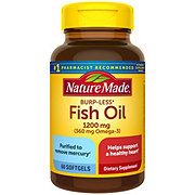 Nature Made Burp-Less Fish Oil 1200 mg Liquid Softgels