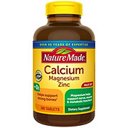 Nature Made Calcium Magnesium Zinc with Vitamin D Tablets Value Size