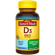 Nature Made D3 1000 IU Liquid Softgels
