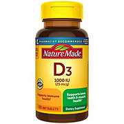 Nature Made D3 1000 IU Tablets