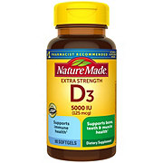 Nature Made D3 5000 IU Ultra Strength Liquid Softgels