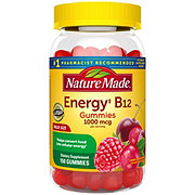 Nature Made Energy B12 1000 mcg, Adult Cherry & Wild Berries Gummies