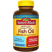 Nature Made Fish Oil 1200 mg Omega-3 720 mg Liquid Softgels