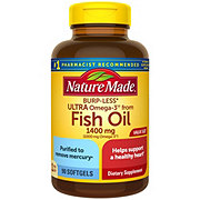 Nature Made Fish Oil 1400 mg Ultra Omega-3 1000 mg Liquid Softgels Value Size