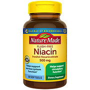 Nature Made Flush-Free Niacin 500 mg Liquid Softgels