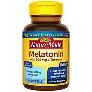 Nature Made Melatonin + L-Theanine Liquid Softgels