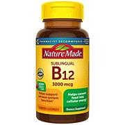 Nature Made Vitamin B-12 3000 mcg Sublingual Cherry Flavor Micro-Lozenges