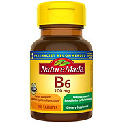 Nature Made Vitamin B-6 100 mg Tablets