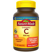 Nature Made Vitamin C Chewable 500 mg Orange Tablets