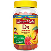 Nature Made Vitamin D3 Adult Gummies Strawberry Peach and Mango Value Size