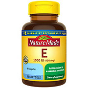 Nature Made Vitamin E 1000 IU Liquid Softgels
