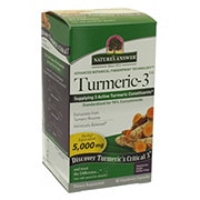 Nature's Answer Turmeric-3 Dietary Supplement 5000 MG Vegetable Capsules
