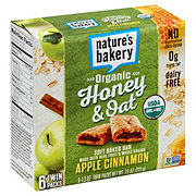 Nature's Bakery Organic Honey & Oat Apple Cinnamon Bars
