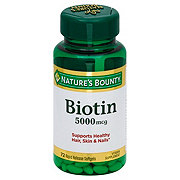 Nature's Bounty Biotin 5000 mcg Softgels