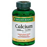 Nature's Bounty Calcium 1200mg Plus Vitamin D3 25mcg (1,000 IU) Softgels