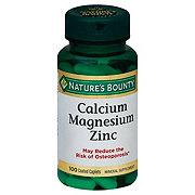Nature's Bounty Calcium Magnesiuim Zinc Caplets