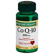 Nature's Bounty Co Q-10 400 mg Cardio Q10 Maximum Strength Rapid Release Liquid Softgels