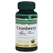Nature's Bounty Cranberry Fruit 4200 mg Plus Vitamin C Softgels