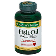 Nature's Bounty Fish Oil 1200 mg Omega-3 Rapid Release Softgels