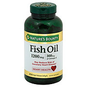 Nature's Bounty Fish Oil 1200 mg Omega-3 Softgels Value Size
