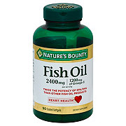 Nature's Bounty Fish Oil 2400 mg Double Strength Odorless Softgels