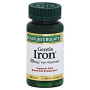 Nature's Bounty Gentle Iron 28 mg Iron Glycinate Capsules