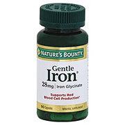 Nature's Bounty Iron 28 mg Iron Glycinate Capsules