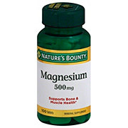 Nature's Bounty Magnesium 500 mg Coated Tablets