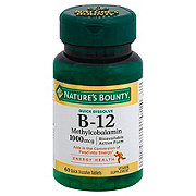 Nature's Bounty Methylcobalamin Vitmain B-12 1000 mcg Quick Dissolve Tablets