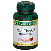 Nature's Bounty Mini Fish Oil 1290mg Odorless Softgels