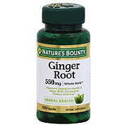 Nature's Bounty Natural Whole Herb Ginger Root 550 mg Capsules