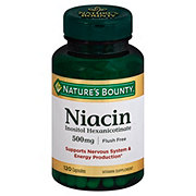 Nature's Bounty Niacin Inosital Hexanicontinate 500mg Capsules