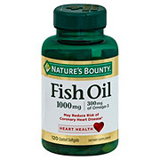 Nature's Bounty Odorless Fish Oil Omega-3 1000 mg Softgels