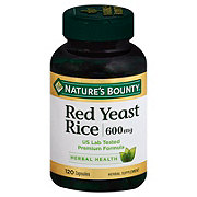 Nature's Bounty Red Yeast Rice 600 mg Capsules