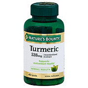 Nature's Bounty Tumeric 538 mg Standardized Extract Capsules