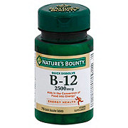 Nature's Bounty Vitamin B-12 2500 mcg Quick Dissolve Tablets