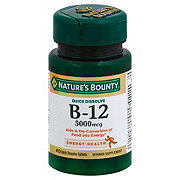 Nature's Bounty Vitamin B-12 5000 mcg Quick Dissolve Tablets