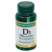 Nature's Bounty Vitamin D3 250 mcg (10,000 IU) Softgels