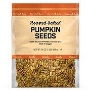 Nature's Eats Roasted Salted  Pumpkin Seeds