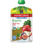 Nature's Heart Organic Apple Kale & Fig Baby Food Pouch